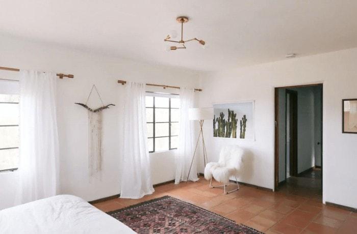 Bedroom in the Joshua Tree House Airbnb rental