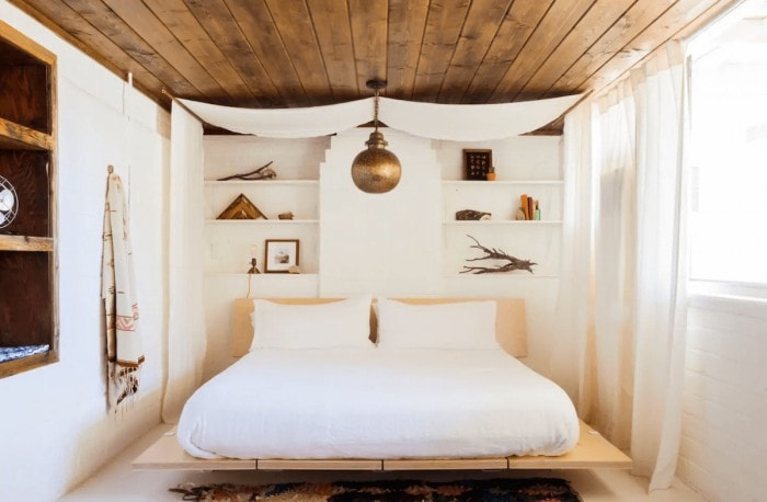 Bedroom at The Joshua Tree House Airbnb rental