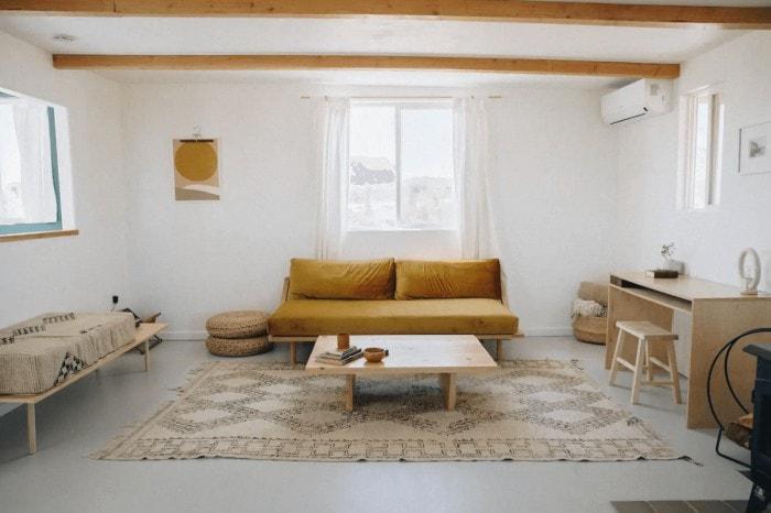 Living room at El Rancho Joshua Tree