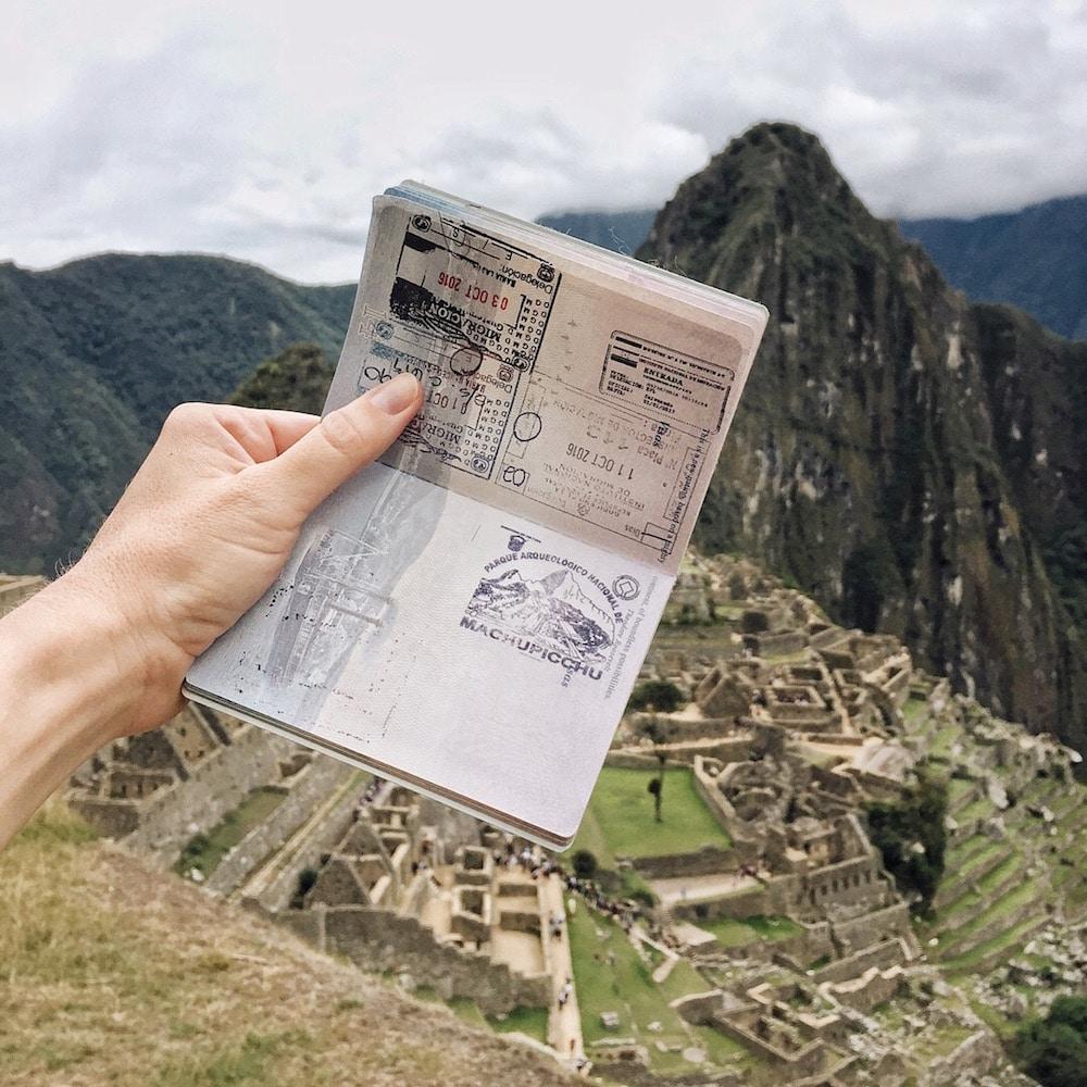 Machu Picchu passport stamp