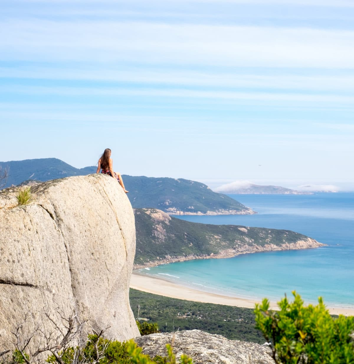 Sophie Clapton @travelsofsophie at Wilsons Promontory National Park in Victoria, Australia