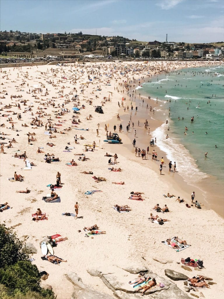 Bondi Beach, Sydney, Australia in New South Wales.