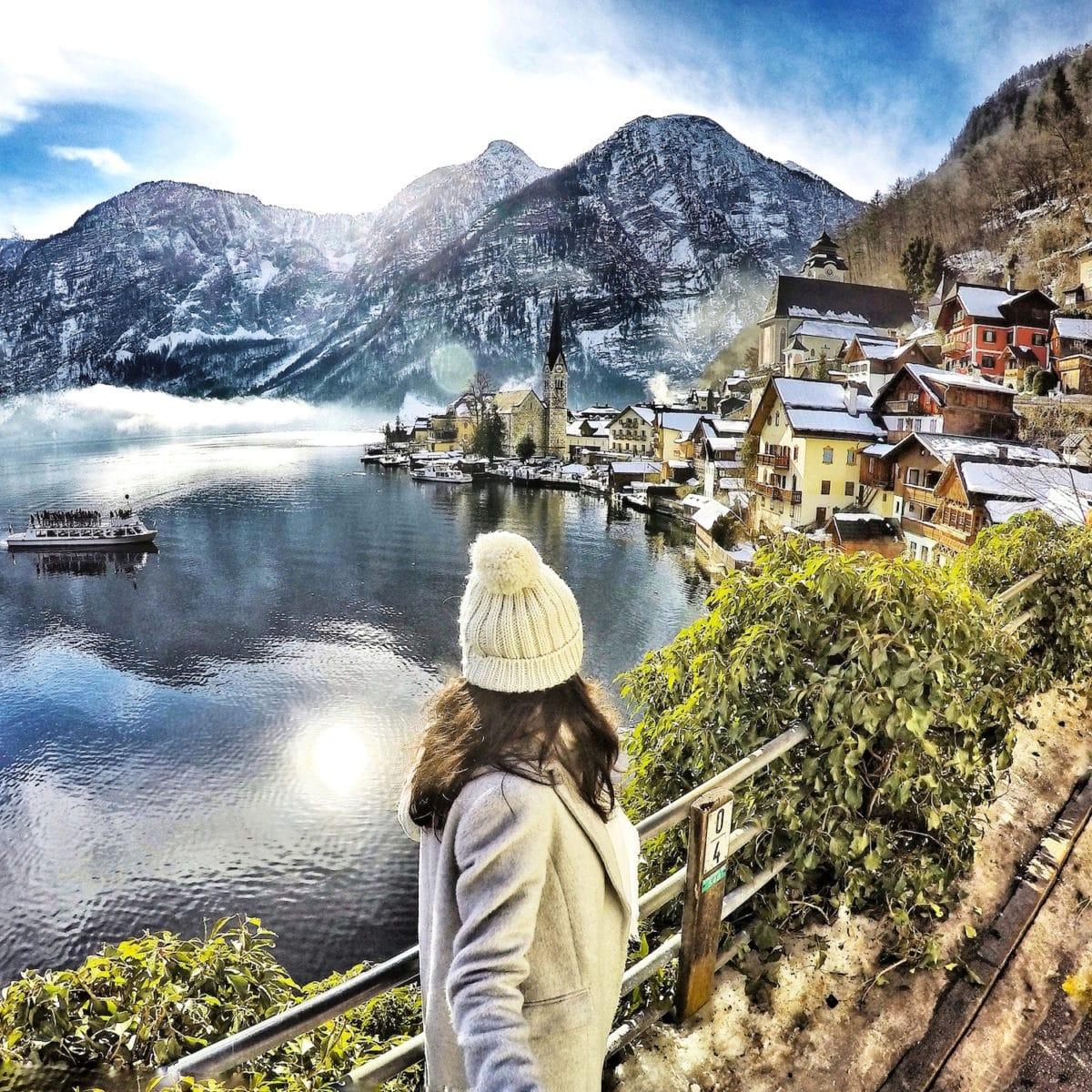 Samita @sam_wanderlust in Hallstatt, Austria