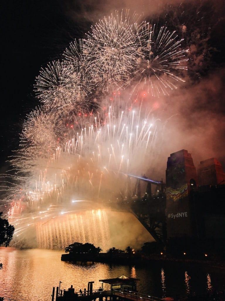 Sydney, Australia New Year's Even fireworks.