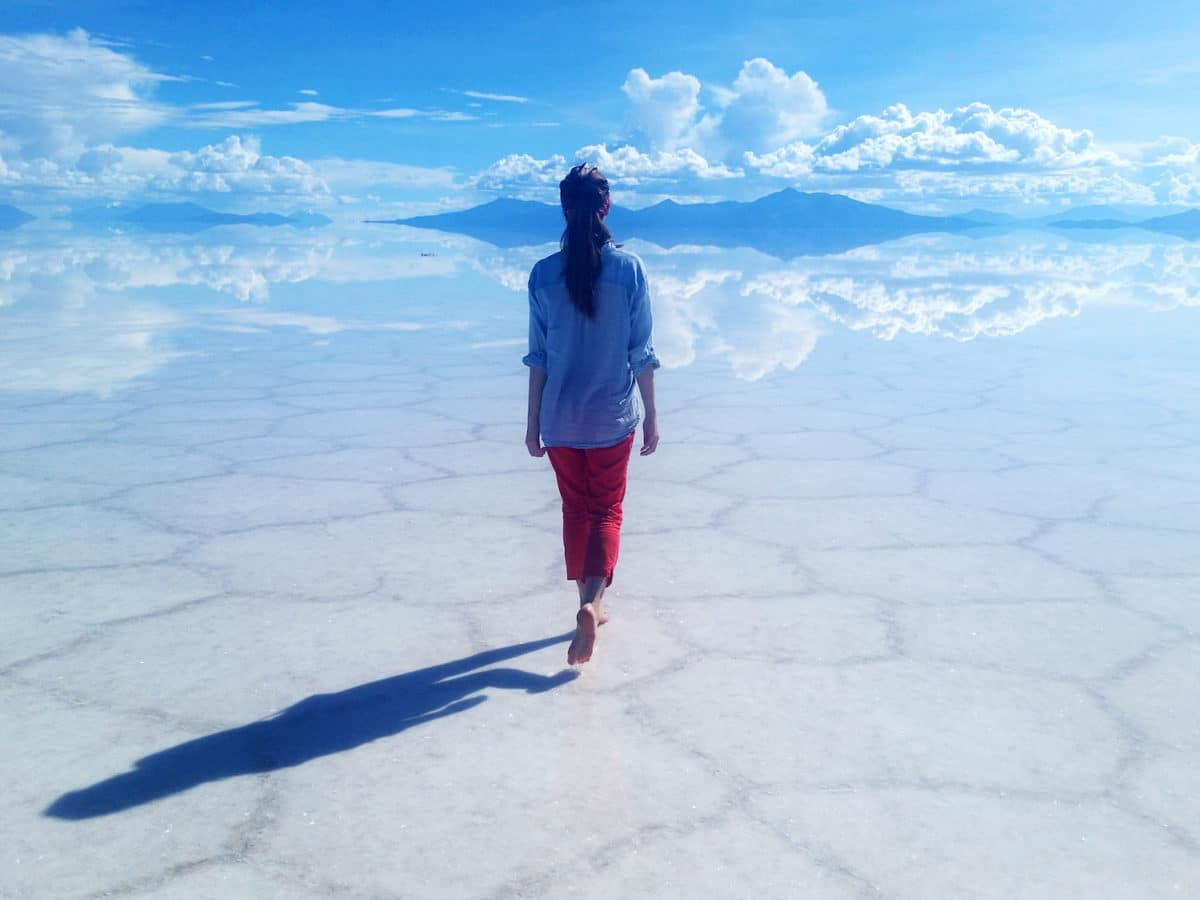 Alina Rudya @rrrudya at the Salar De Uyuni in Bolivia