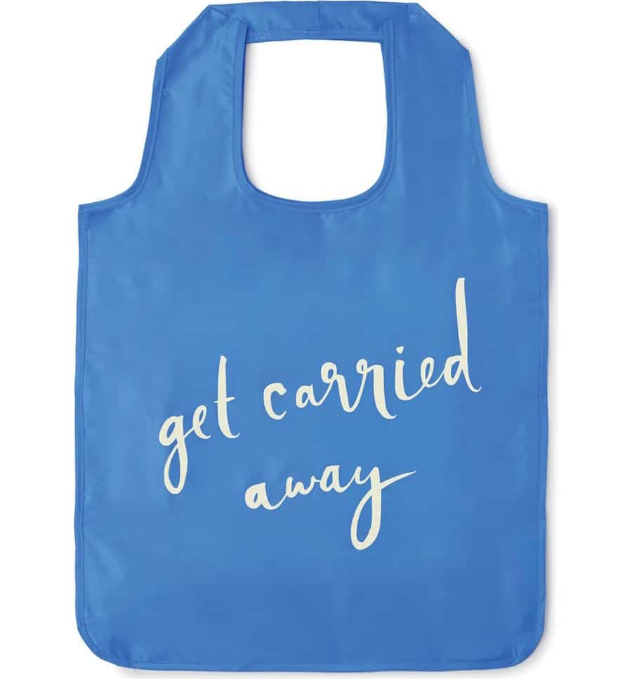 I always pack a reusable tote that is lighweight and packs easily