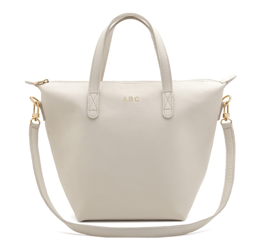 Cuyana's small tote is easily packable and can be worn as a handheld or crossbody
