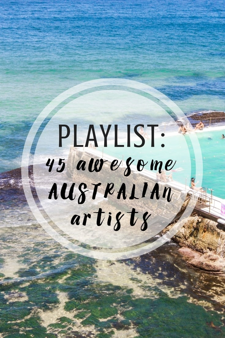 Playlist featuring all Australian singers/songwriters and bands.