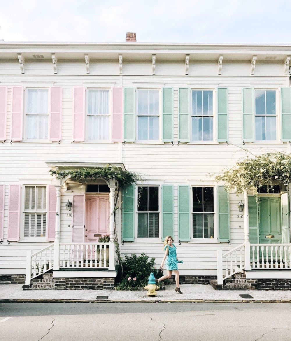 Rainbow Row, Savannah, Georgia