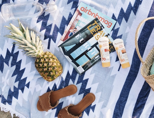 Beach day essentials with Aveeno