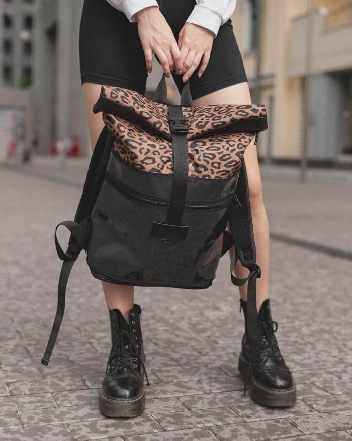 stylish camera bags for women with leopard and black