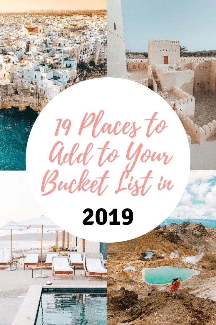 Instagram inspiration to grow your list of travel destinations to visit in 2019