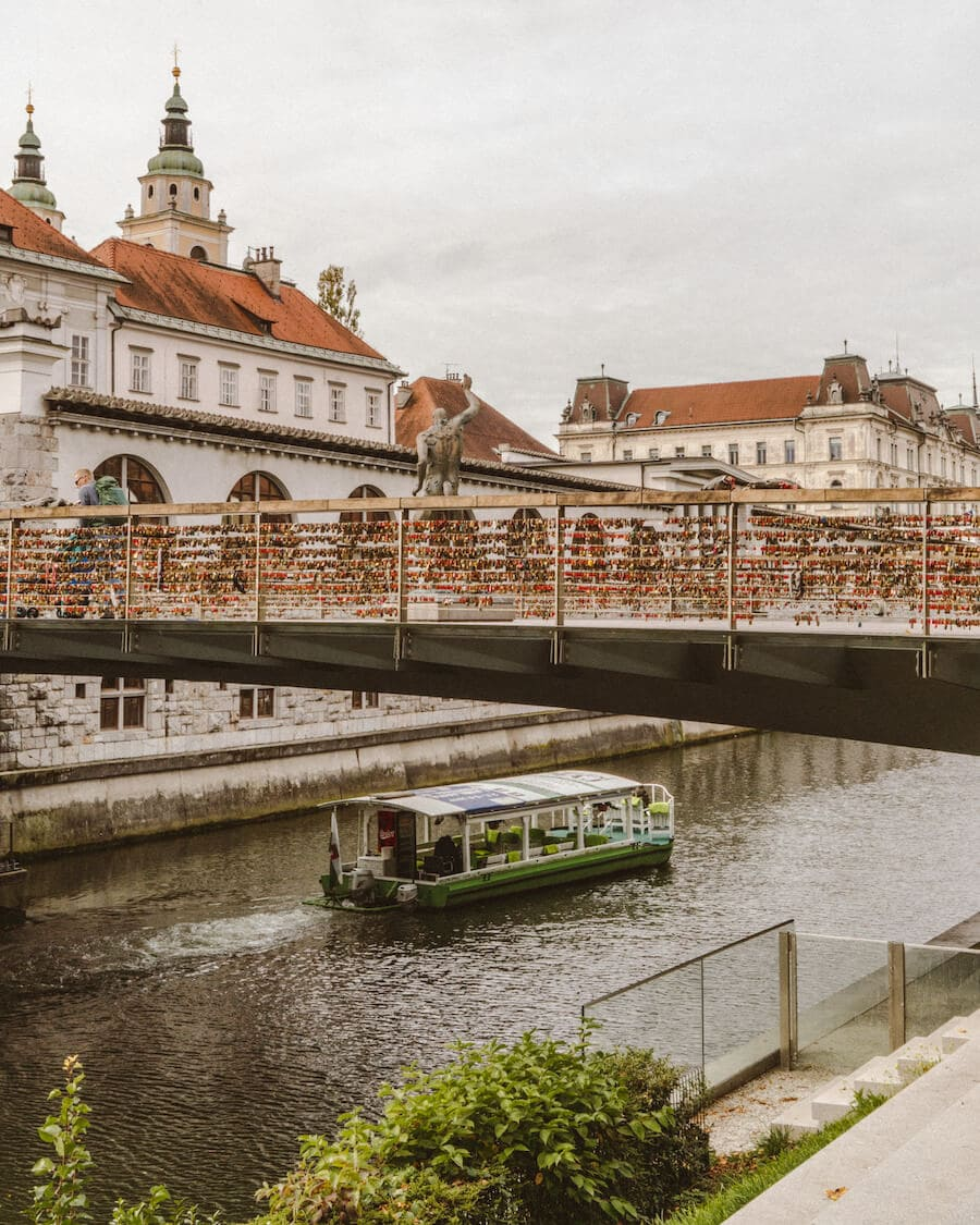 Ljubljana love lock bridge