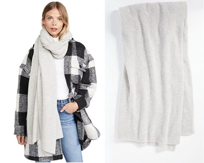 cashmere travel wrap in off white