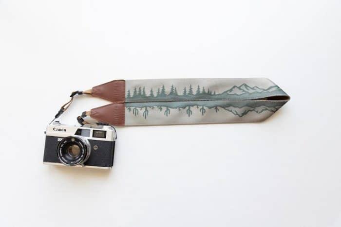 unique desert and mountain landscape camera strap