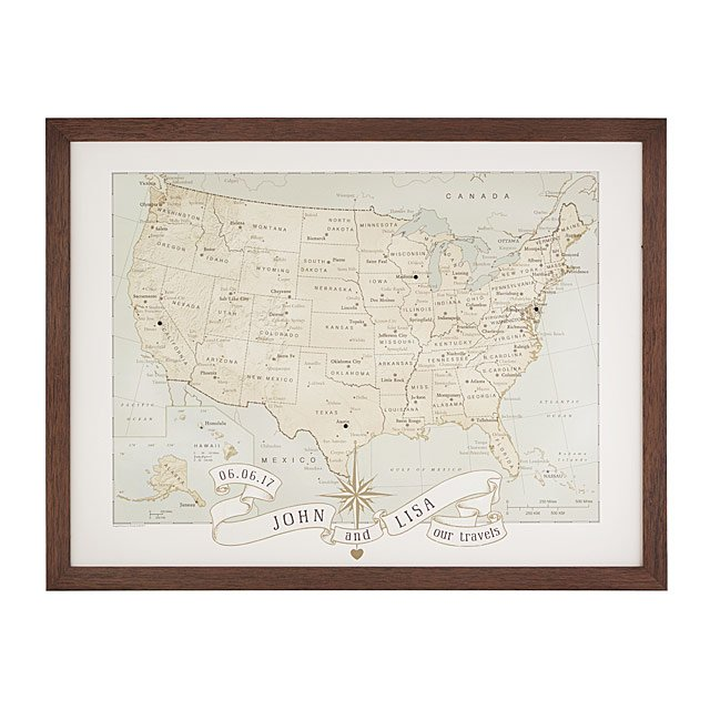 personalized map gift