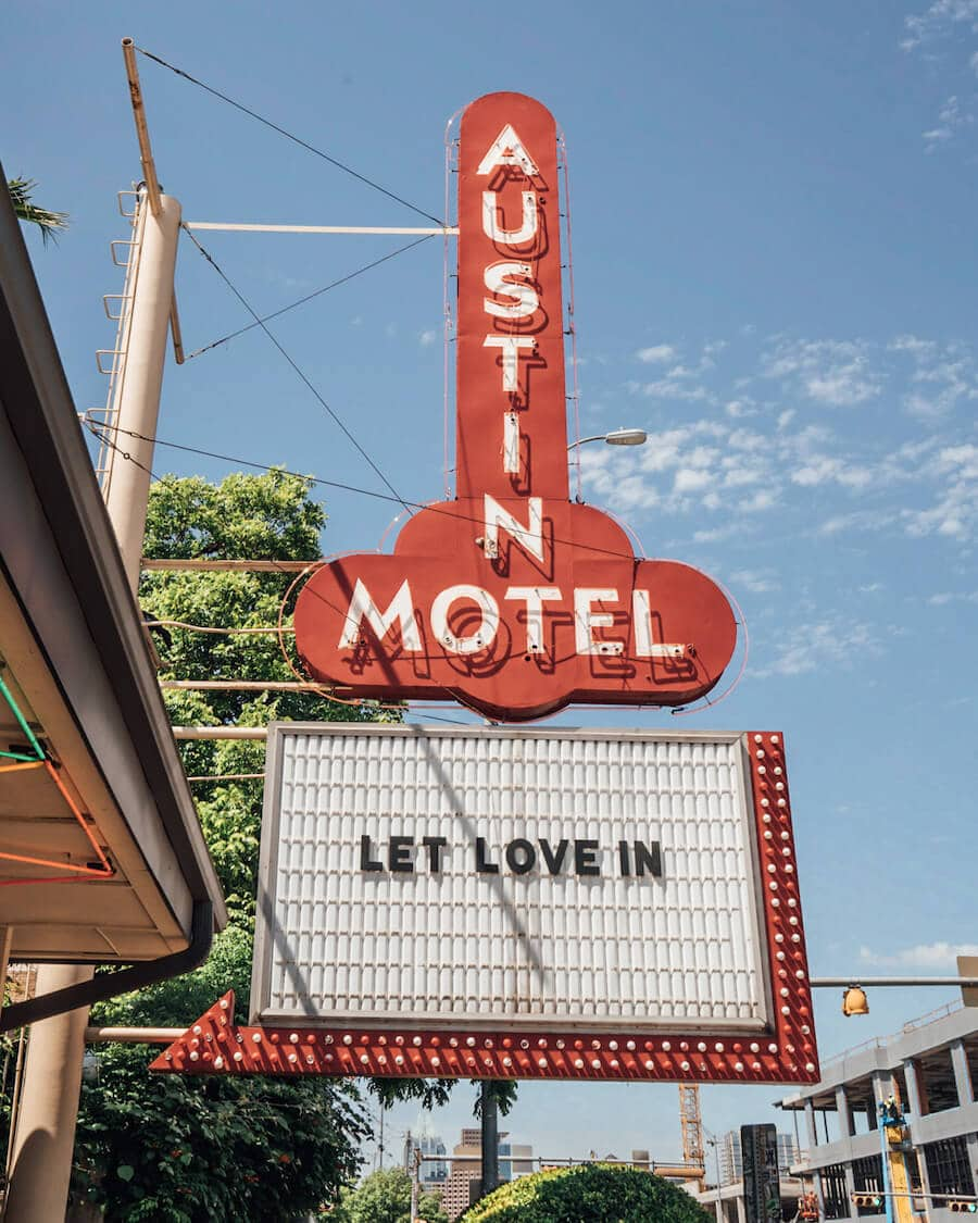 The Austin Motel sign in Austin, Texas
