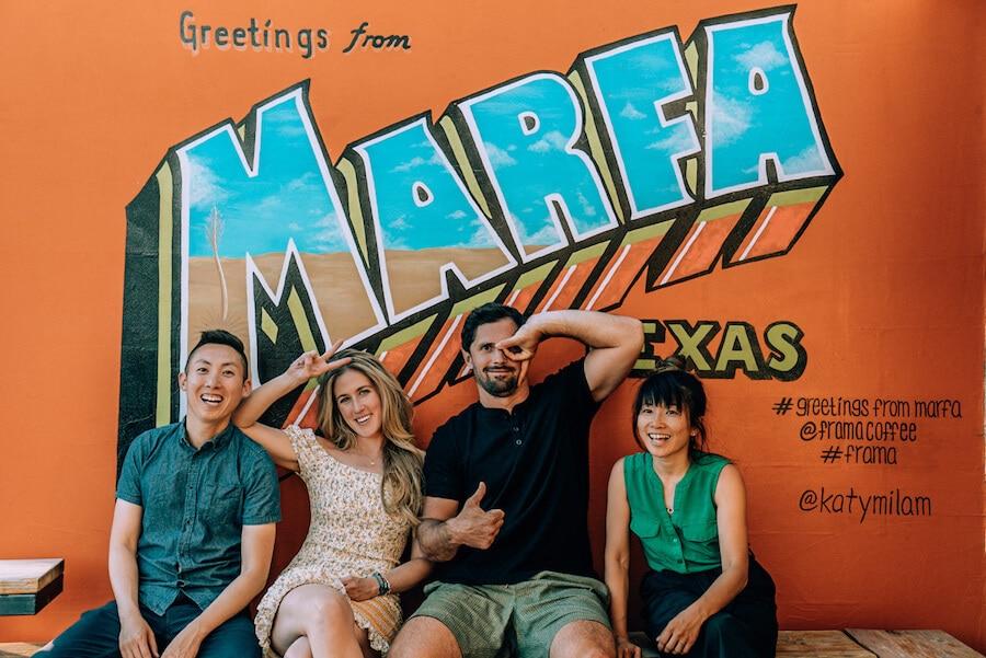The Marfa sign, Marfa, Texas