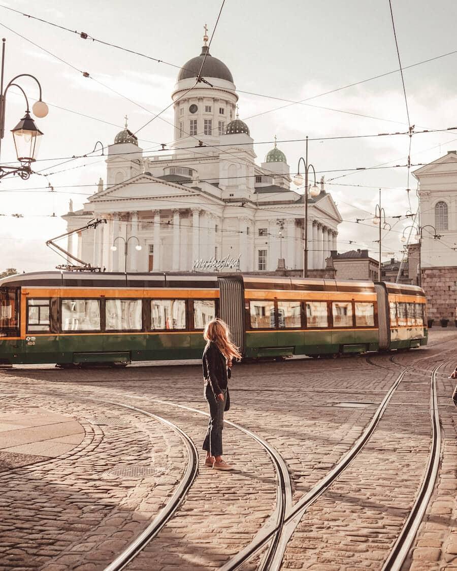 Street trolleys in Helsinki, Finland