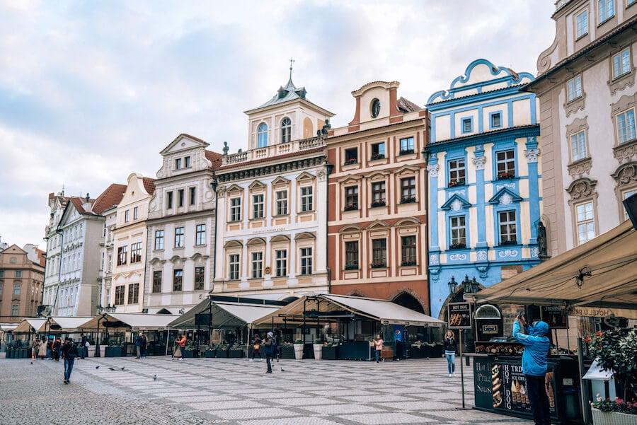 Street views of Prague, Czech Republic