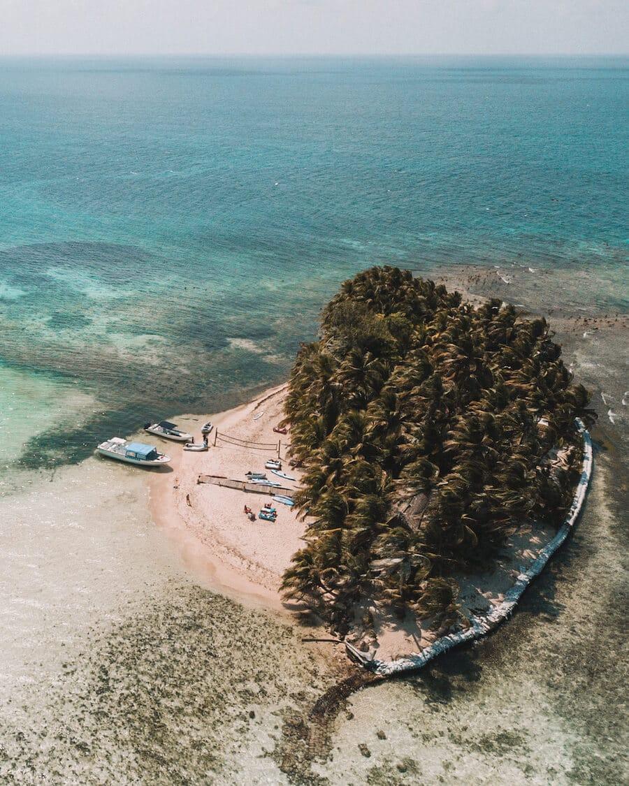 Ranguana Caye drone shot, Belize