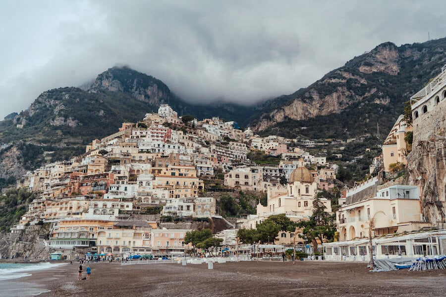 Stormy day in Positano, Italy
