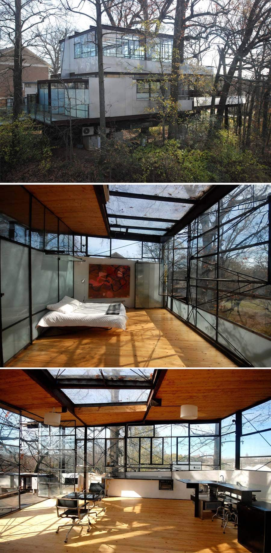 Atlanta glass house Airbnb home