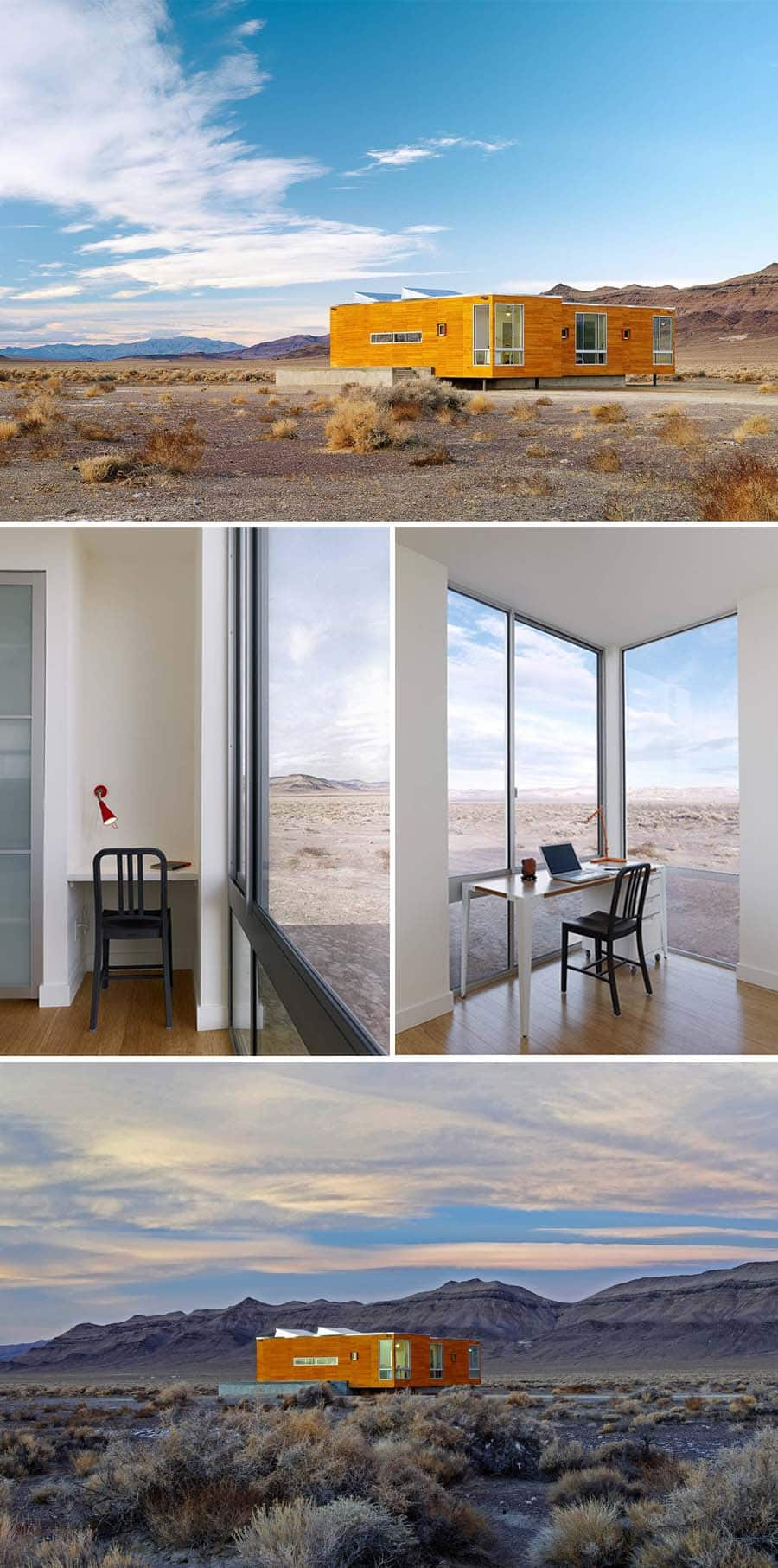 Architectural death valley home on Airbnb
