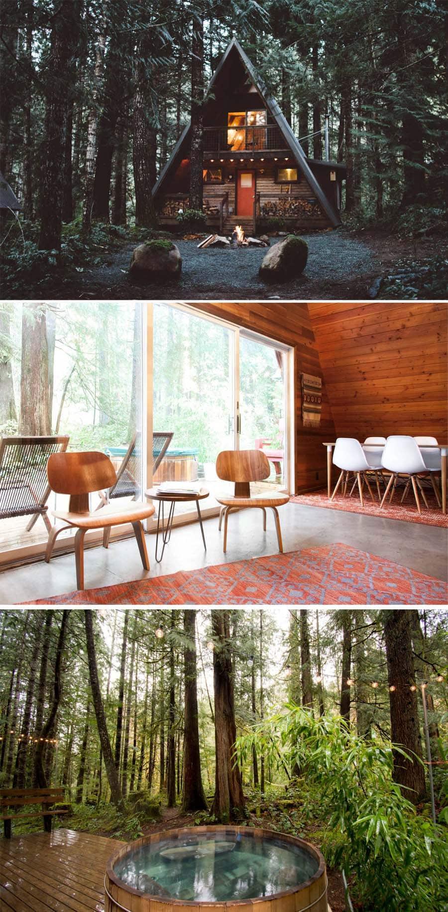 A-Frame Mt. Rainier Airbnb in Washington state