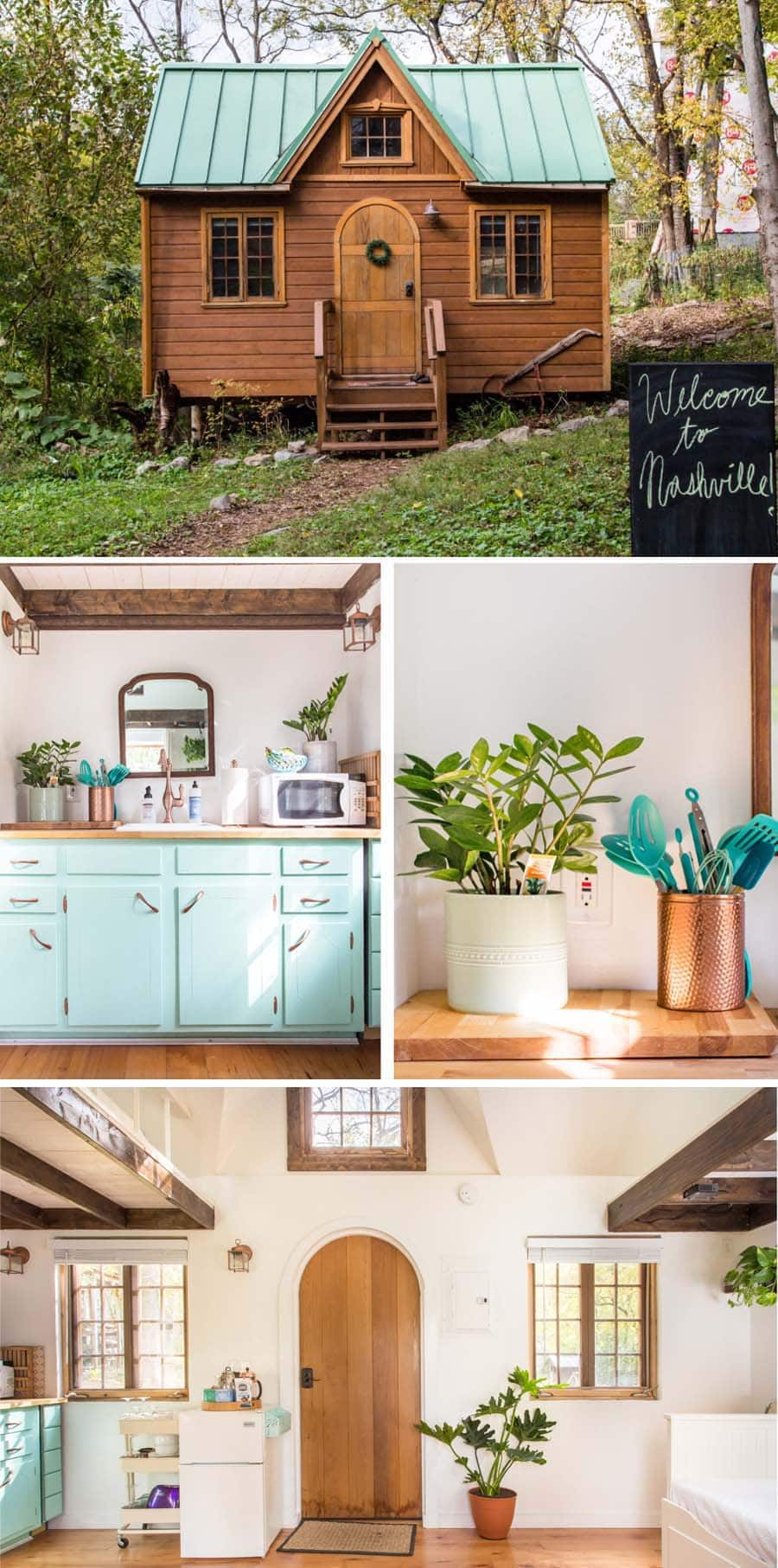 Cute and colorful tiny home Airbnb in Nashville, Tennessee