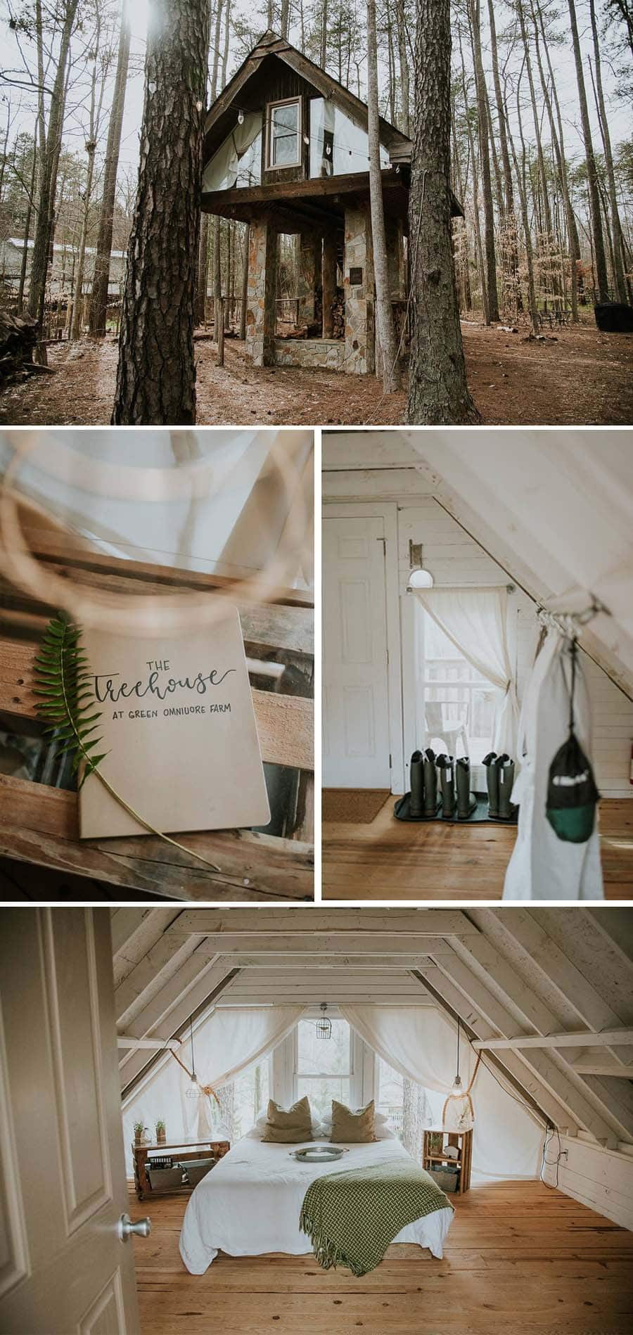 North Carolina romantic treehouse Airbnb
