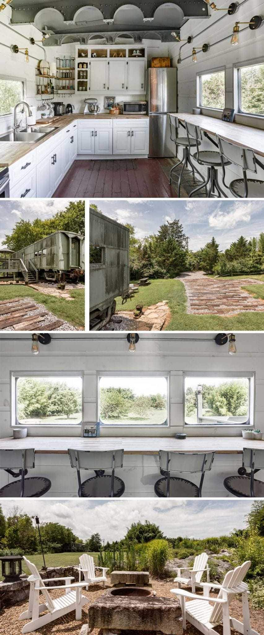 Converted WWII train Airbnb in Tennessee