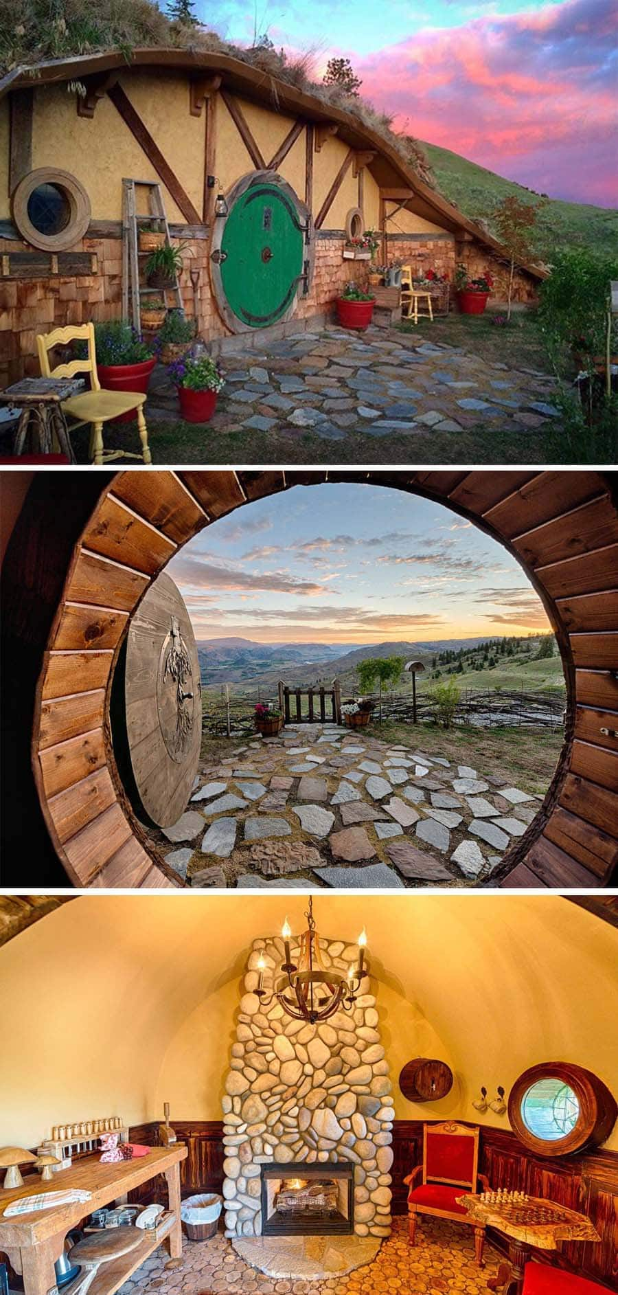 Hobbit home Airbnb in Washington state