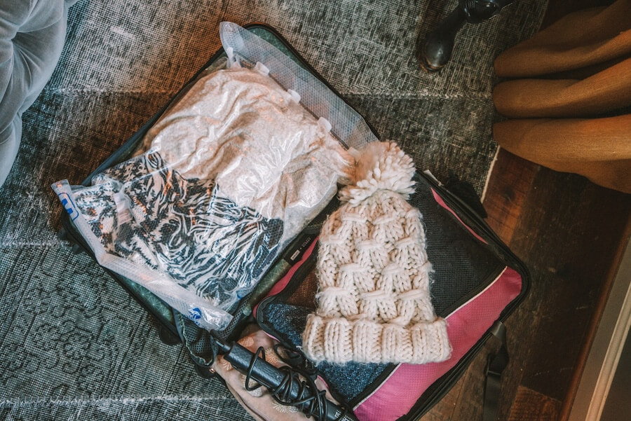 Packing light for a winter trip