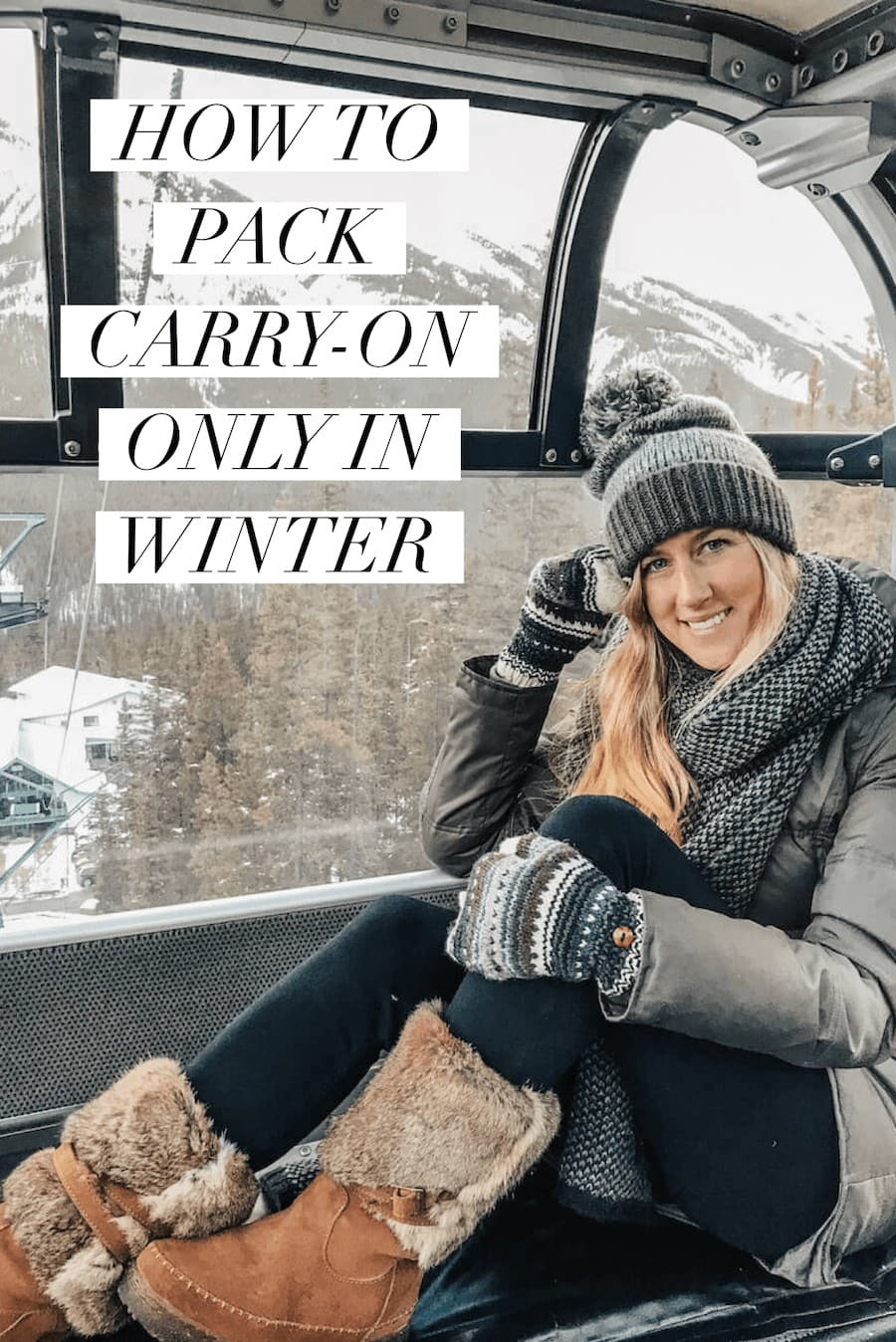 How to pack carry on only in winter