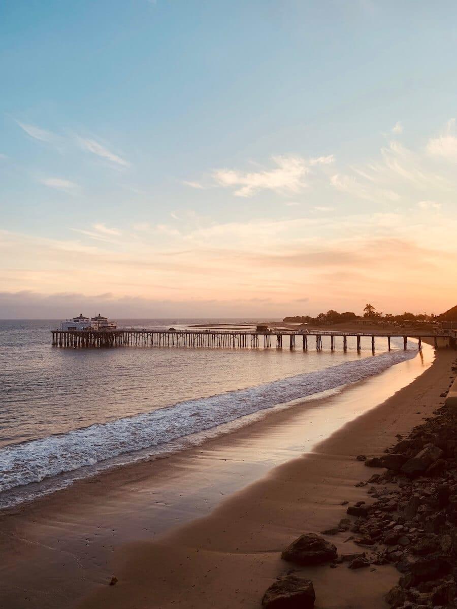 Malibu sunset overlooking Malibu Pier