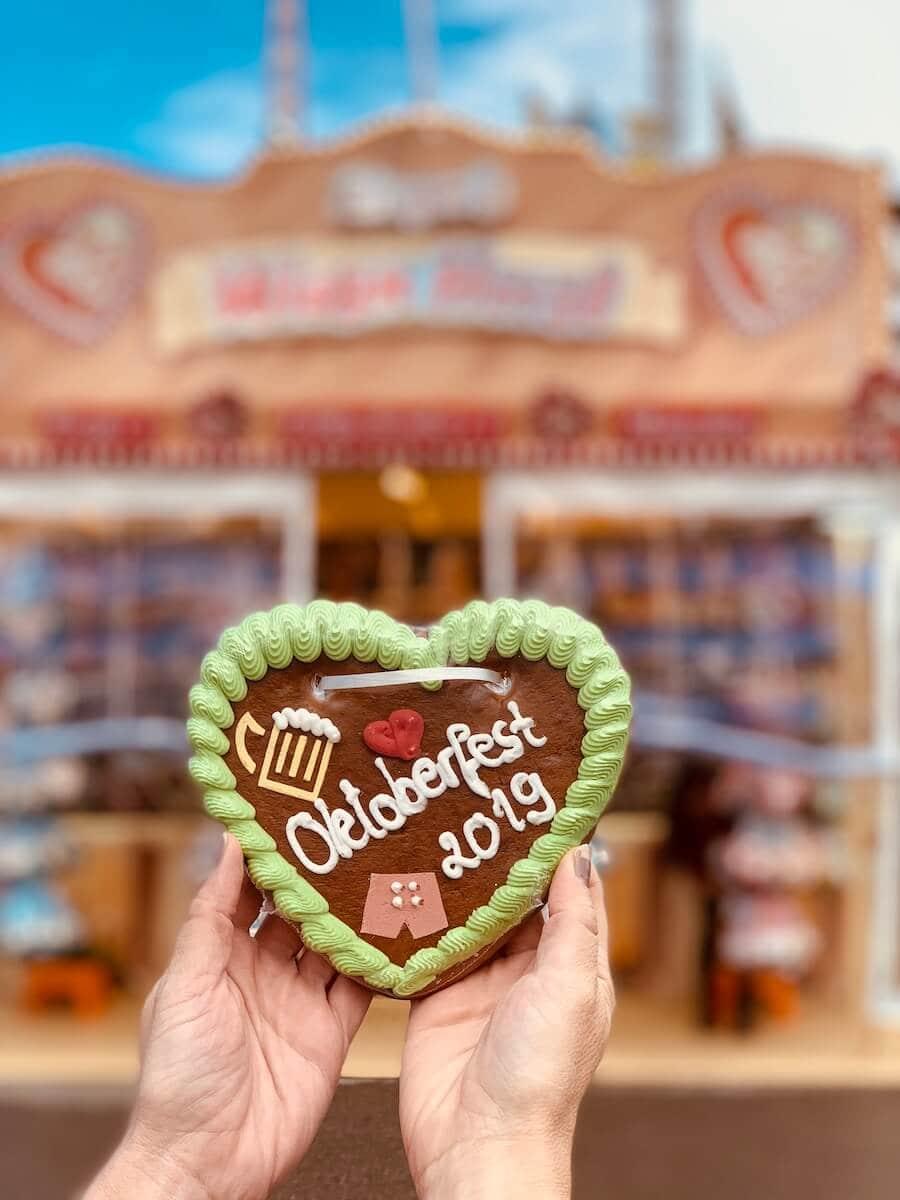 Heart shaped cookies at Oktoberfest, Munich, Germany