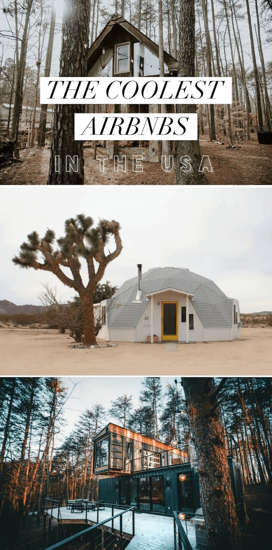 Desert domes, treehouses and more of the best Airbnbs in the USA