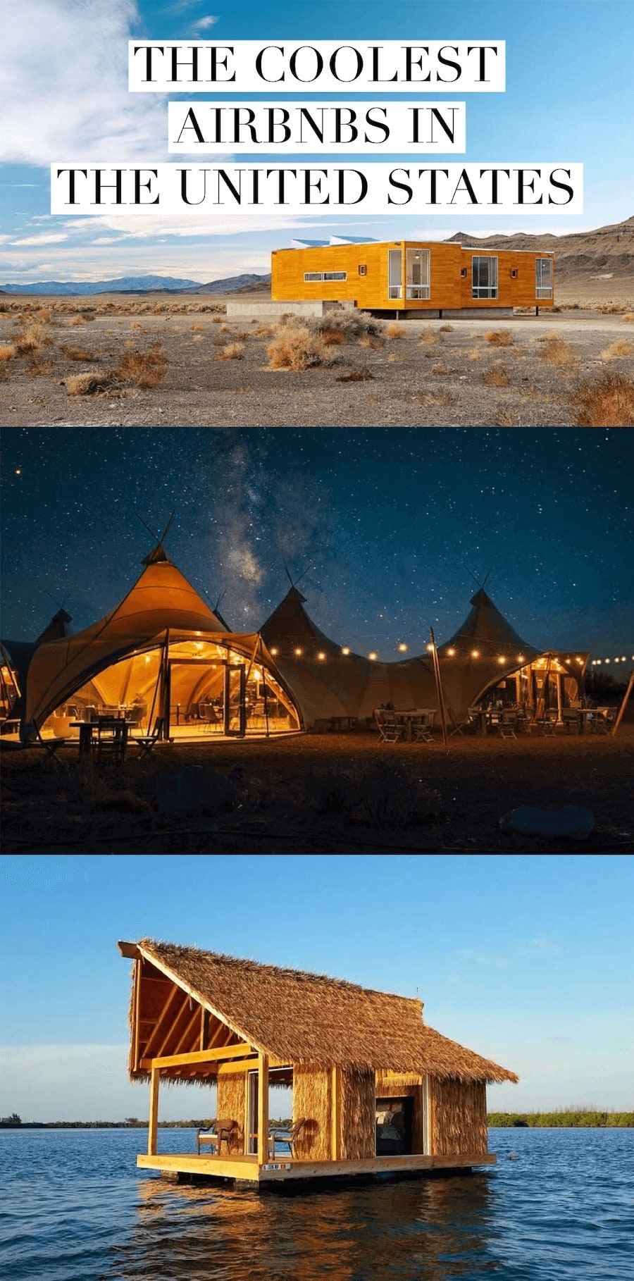 Glamping under the stars, straw tiki houses and more of the best Airbnbs to stay at in the US