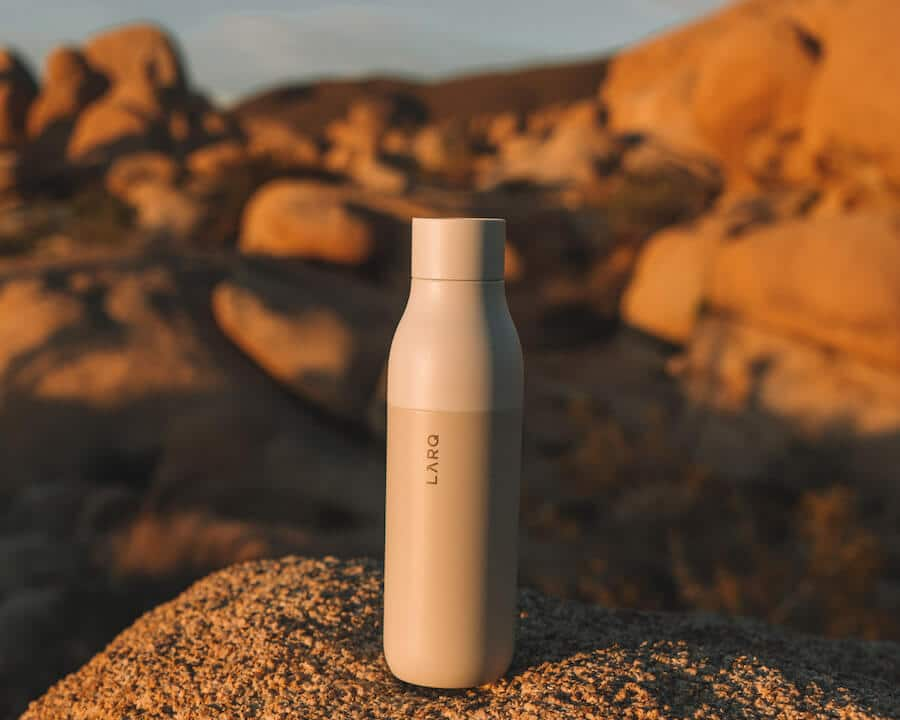 The LARQ self cleaning water bottle