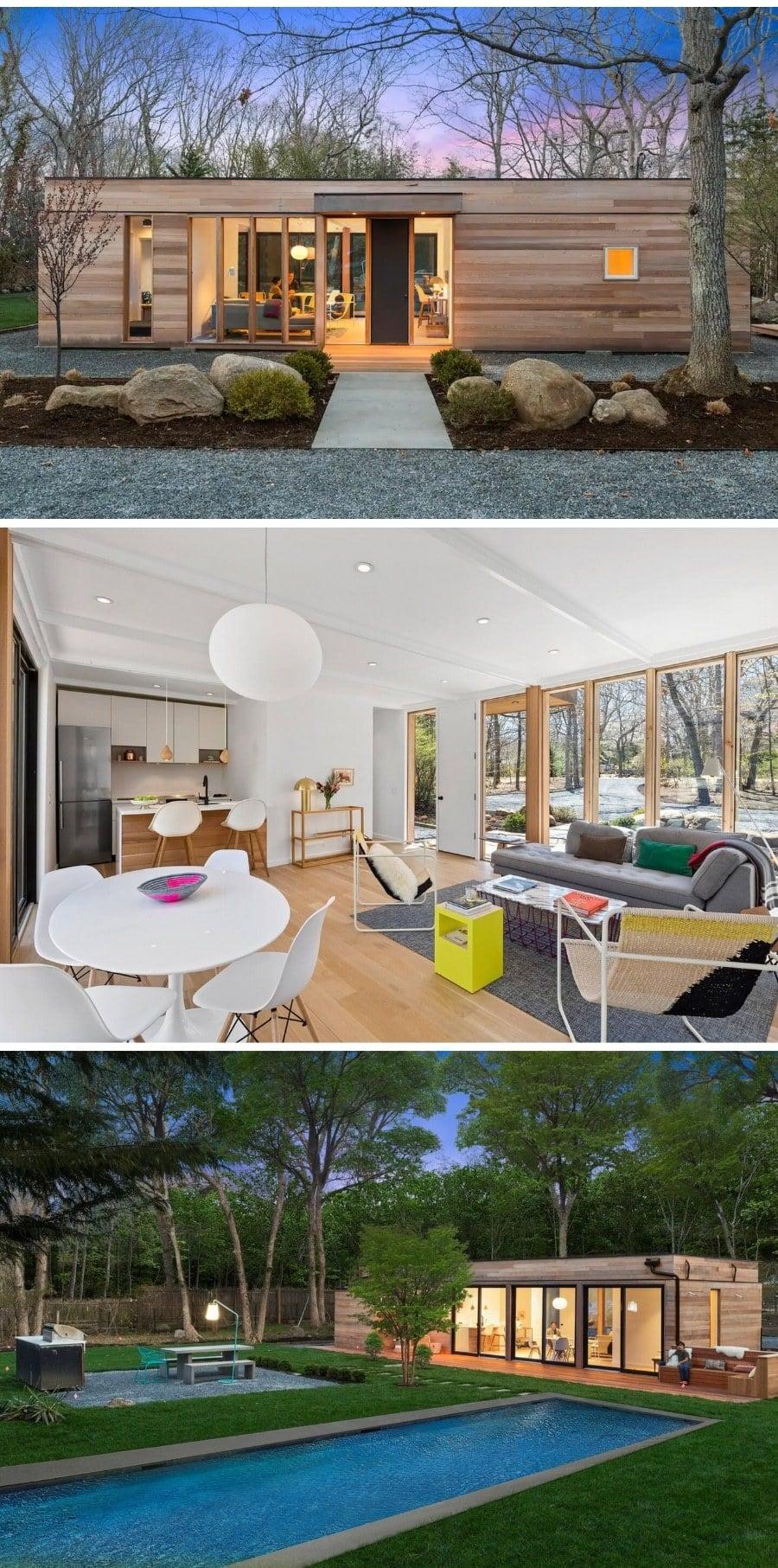 Modern glass house New York