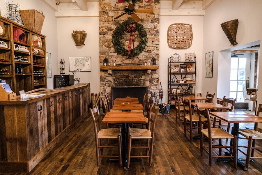 Tasting room at King Family Vineyards in Virginia