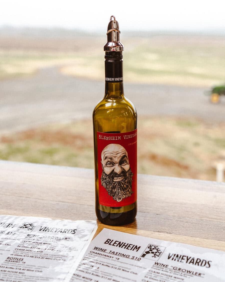 Fun wine labels at Blenheim vineyards