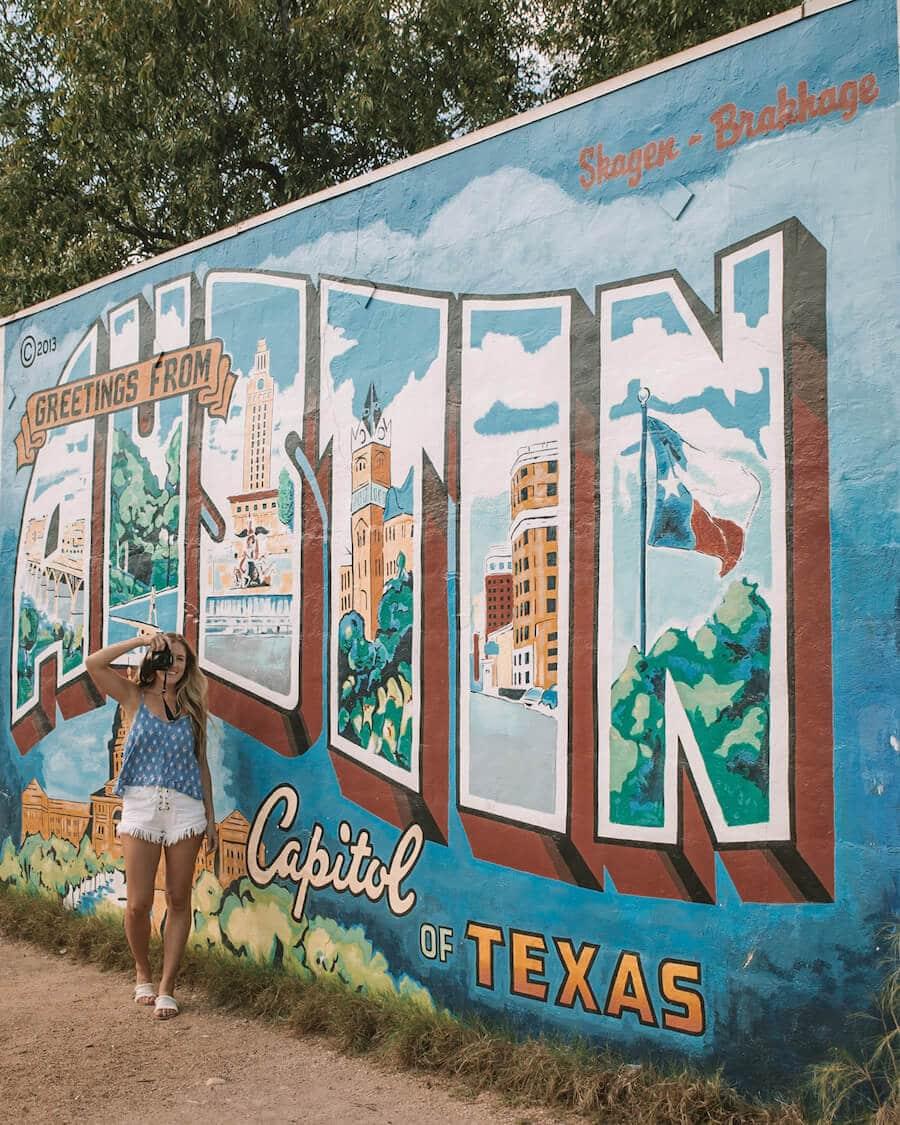 The Austin sign in Austin, Texas