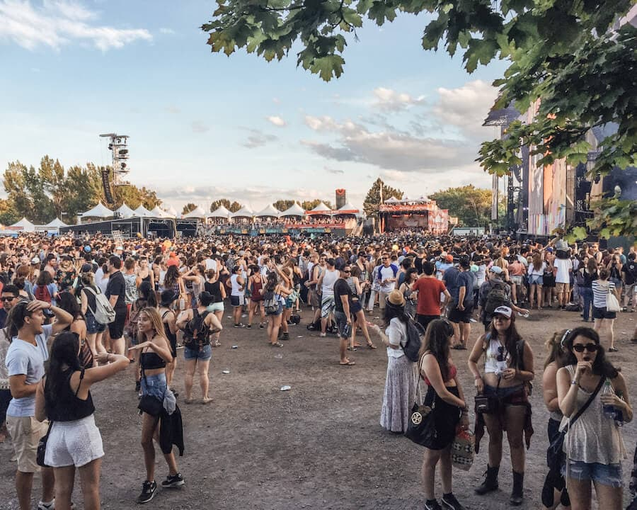 Osheaga Music Festival in Montreal, Canada