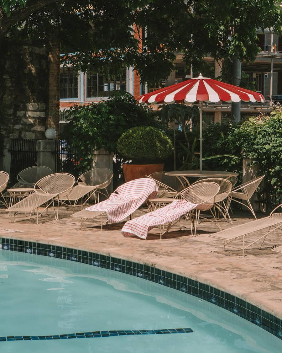 The Austin Motel pool in Austin, Texas
