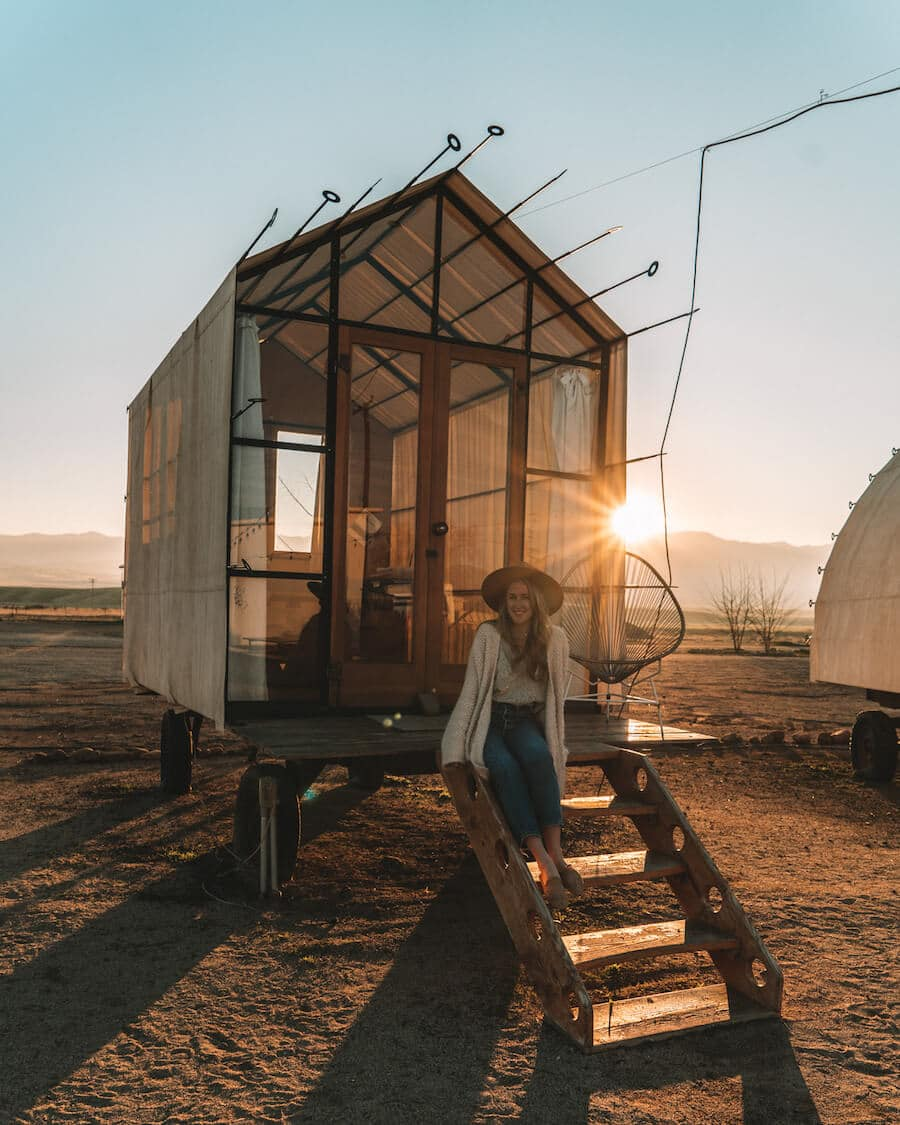 Blue Sky Center glamping site in Cuyama, California
