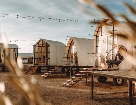 Blue Sky Center glamping site in Cuyama, California