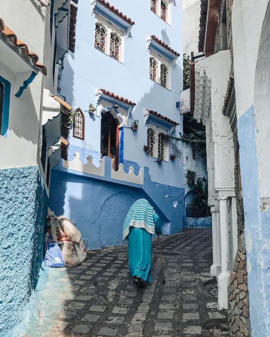 Blue streets of Chefchaouen, Morocco