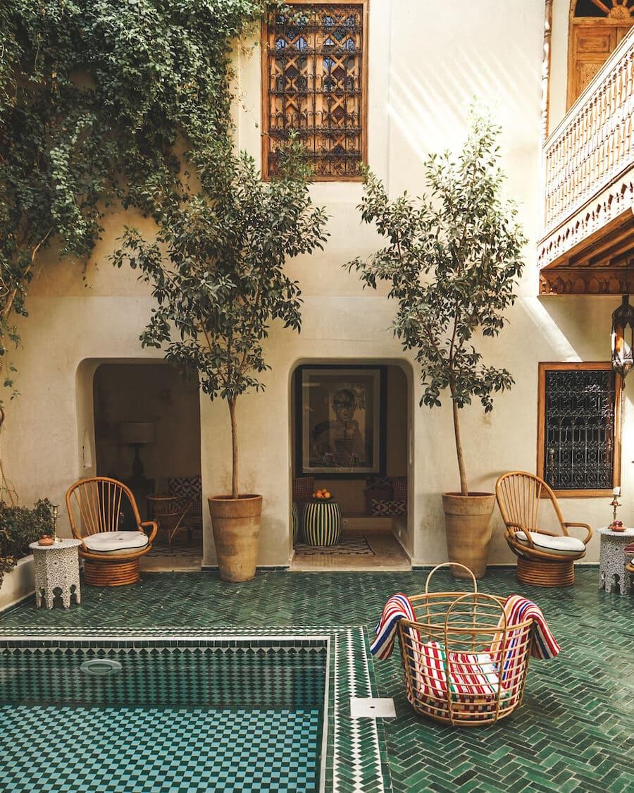 El Fenn riad boutique hotel in Marrakech